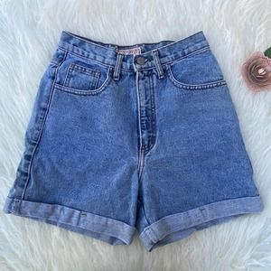 Vintage 90s Guess 27 cuffed high rise jeans shorts